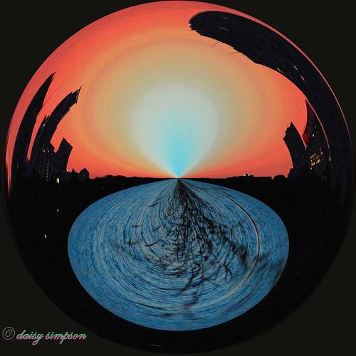 sunrise amazing circle