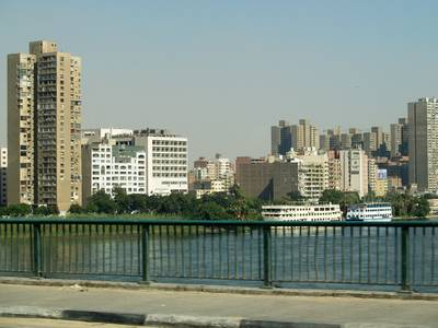 Developed part of Cairo by the River Nile