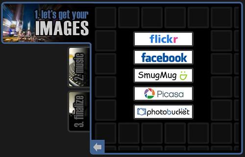 Animoto - Choose your image source