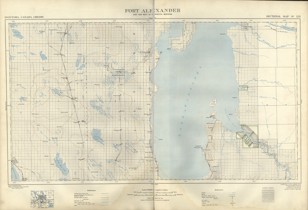 Fort Alexander Sectional Map 123 (1921)