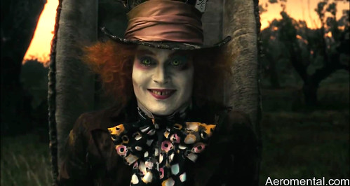 Mad Hatter Johnny Depp smile