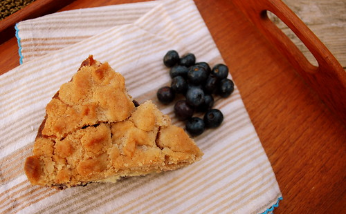 Blueberry Coffee Cake on tray TS