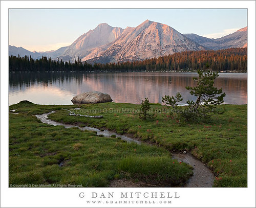 Photo of the Day: Sunset, Mount Conness and Lower Young Lake by G. Dan Mitchell