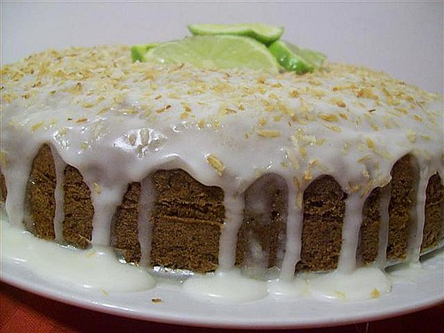 Lime Banana Coconut Cake