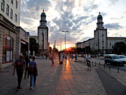 Walking to dinner at Frankfurter Tor