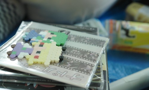 Touhou goods and CDs.