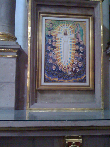 Christ with Mexican martyrs, Cathedral, San Luis Potosi