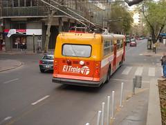 Orange trolley (Upper Uhs) Tags: city cidade orange bus argentina argentine trolley transport ciudad mendoza naranja transporte argentinien cittá trole cuyo