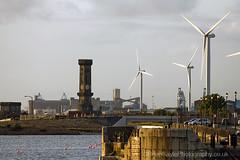 (Brian Sayle) Tags: england liverpool docks canon dock turbine windfarm merseyside dockland victoriadock canon70200mm princesdock canonef70200mmf4lusm 400d canon400d princeshalftidedock waterloodock