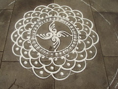 Incomplete Rangoli at Castle Square, Lincoln (janakchauhan) Tags: lincoln rangoli indianart floorart castlesquarelincoln