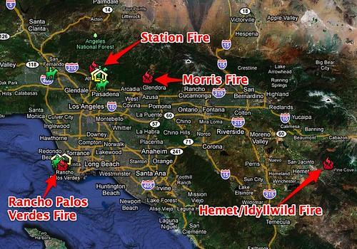 SoCal Fires - Google Maps