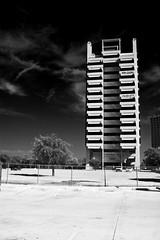 Now Leasing (jayRaz) Tags: bw building dallas sold empty infraredeffect filter highrise infrared dfw former stark polarizer contrasty darksky 7200 foreclosure nowleasing mobiloil fauxinfrared pegasusvillas retirmentcommunity 7200northstemmons