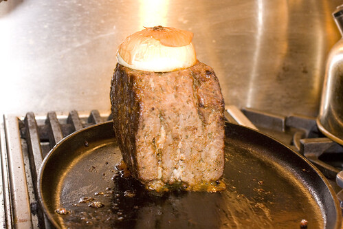 Skillet Cooking a Shawarma Cube