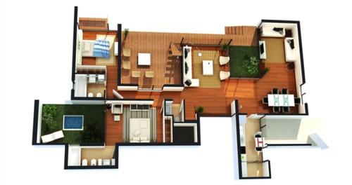 planta de uma casa moderna