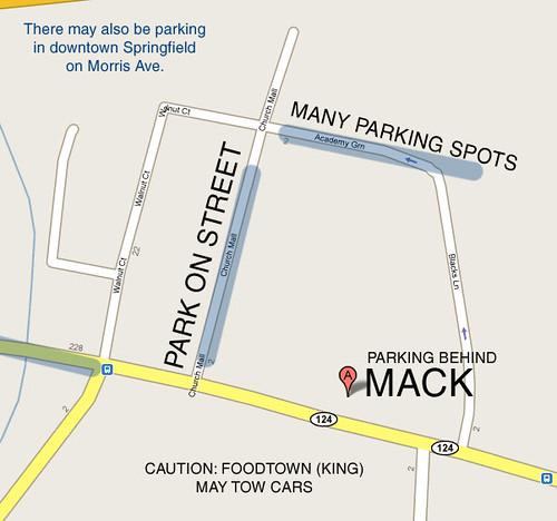 Parking for September 26th Photowalk