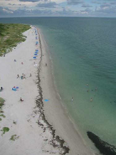 beach from the lighthouse