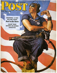 1943 ... Rosie The Riveter - by Norman Rockwell (x-ray delta one) Tags: life portrait history illustration painting post propaganda rosietheriveter patriotic nostalgia ww2 americana 20thcentury normanrockwell 1943 magazinecover magazineillustration worldwarll