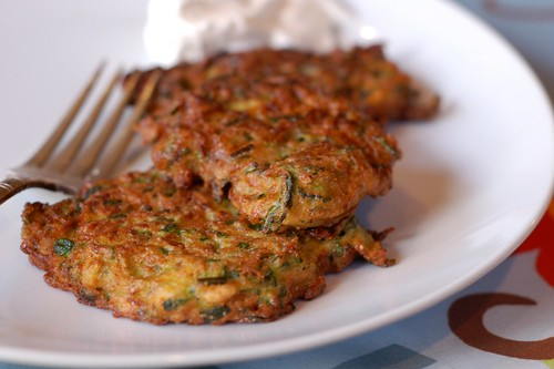 Zucchini Fritters by Eve Fox, the Garden of Eating blog