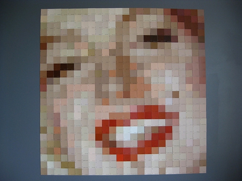 Pixelated Art From Hardwarestore Paint Chips 4