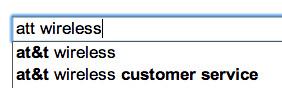 Google Suggest Negative