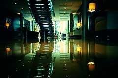 Lobby Reflections (Cormac Phelan) Tags: kilkenny ireland reflection film 35mm hotel lomo lca xpro lomography lka lobby crossprocessing phelan lowangle cormac ratseye