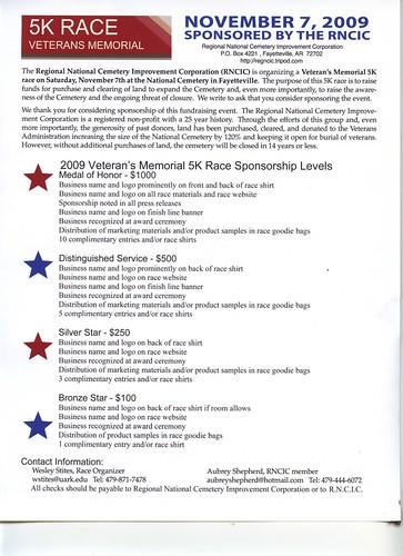RNCIC 5K sponsorship levels 09