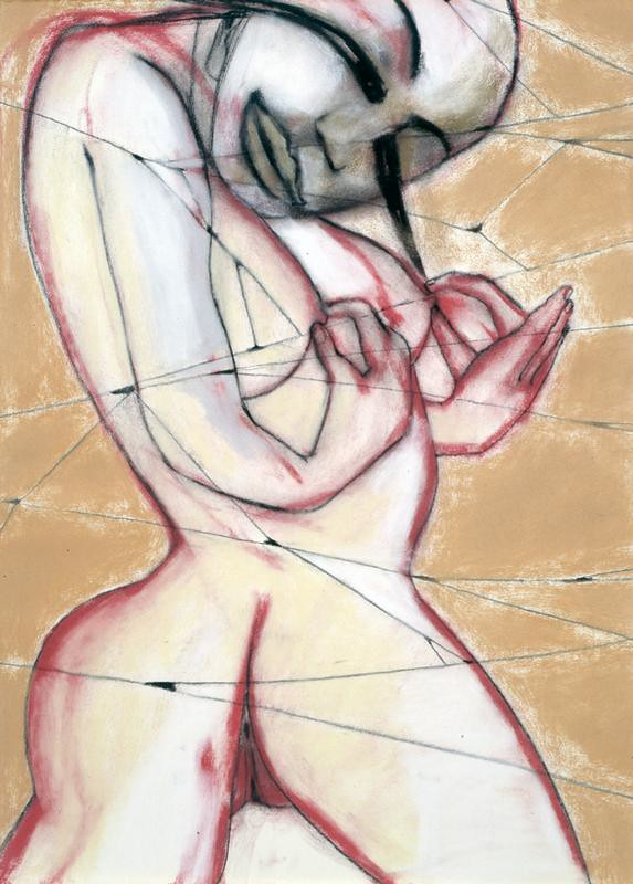Francesco Clemente The hand of strangers 1998 pastel on paper 66x50 cm