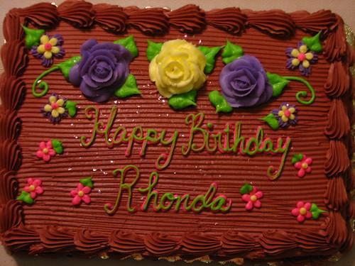Happy Birthday Rhonda Cake Images