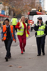 High Visibility (forced rhubarb) Tags: ladies red orange women police tights policewoman fluorescence fluoro highvisibility visvest