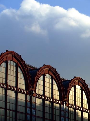 Antwerpen Centraal Railway Station. Front side of Antwerpen Centraal railway station