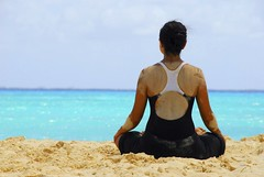Yoga on the Beach of Riviera Maya (Grand Velas Riviera Maya) Tags: yoga yogaonthebeach beachyoga yogaonbeach rivieramayayoga beachyogarivieramaya