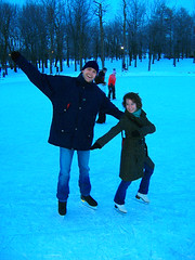 Ice skating with Val