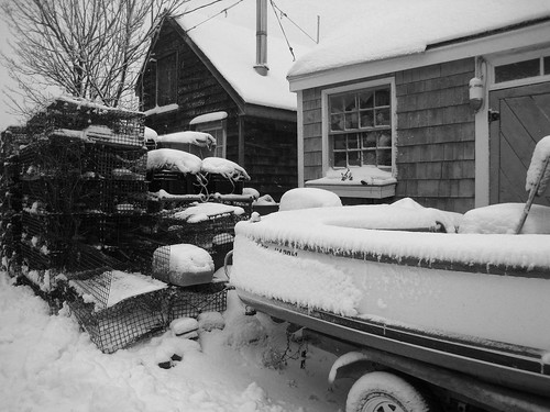 Snowy Lobster Traps and Boat