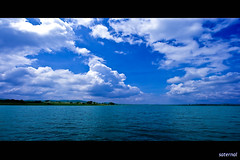 Laws of the Nature (saternal) Tags: sky water clouds river landscape scenery air minimal minimalism kabini aplusphoto flickraward saternal flickrestrellas rubyphotographer