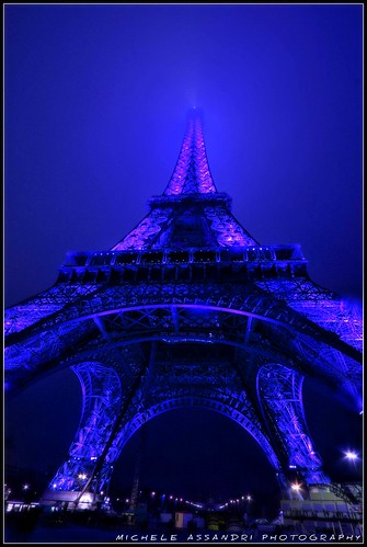 Blue night in paris