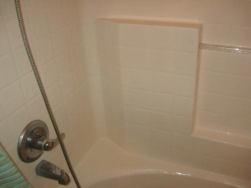 Shower after Mr. Clean Magic Eraser