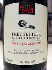 Free Settler and the Convict (knightbefore_99) Tags: red rouge wine australia shiraz vin convict rosso witsend tinto grenache freesettler