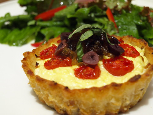 Baked Ricotta Tart in Mashed Potato Crust