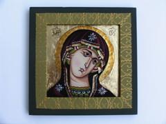 Fecioara Maria (cod FM4) (Marius Paciu Art) Tags: icons religiousart virgenmaria icoane cultobject fecioaramaria icoanapesticla
