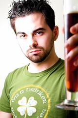 2009 365 Day 15 (UM Sizzle) Tags: portrait irish selfportrait beer canon drinking 365 drinker canonef50mmf18ii project365 canon430ex 365days strobist canonrebelxti canonxti