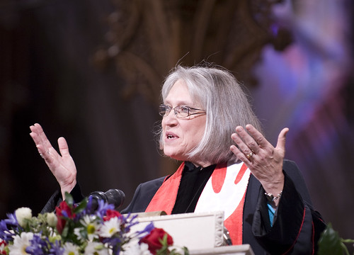 A Woman Gives the Sermon at the Prominent Event