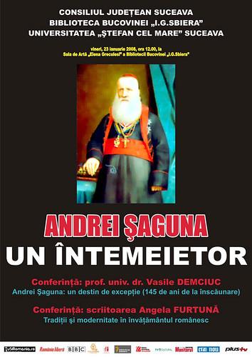 23 Ianuarie 2009 » Andrei ŞAGUNA - Un întemeietor