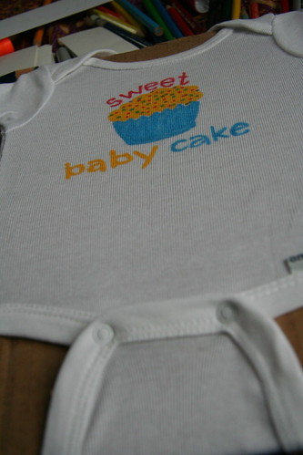 Sweet baby cake creation (front)