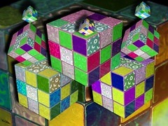 Hypercubed (rcvernors) Tags: shadow photoshop squares digitalart cube computerart blocks hypercube allrightsreserved rubiks rubikscube photoshopart rcvernors altereduniverse onlythebestare proudshopper hypercubed