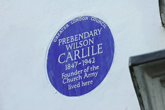 Photo of Wilson Carlile blue plaque