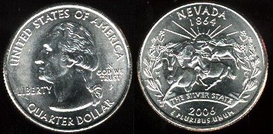 USA km#382 Nevada State Quarter