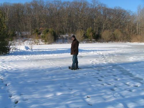 Ian on frozen pond