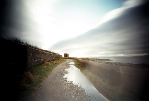 Pinhole image lane and Portencross castle 05Feb09