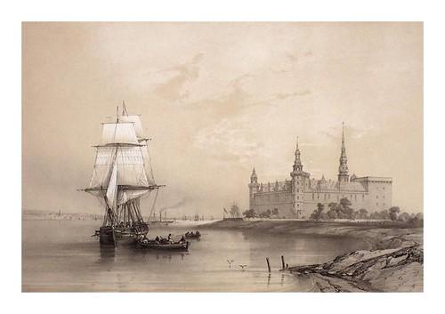 013- Castillo de Kronborg desde el mar- Dinamarca 1839