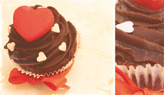 (flickr ) Tags: red brown white love cake cupcakes yummy flickr heart chocolate n m cupcake u happybirthday iloveyou
